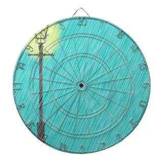 Lamppost In the Rain Dartboard