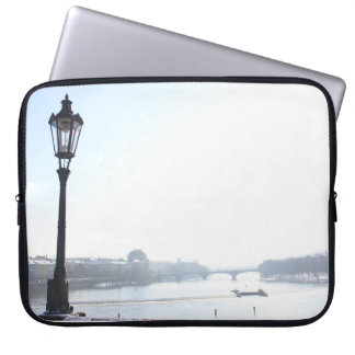 Lamppost on Charles Bridge (Prague) Laptop Sleeve