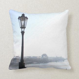 Lamppost on Charles Bridge (Prague) Throw Pillow