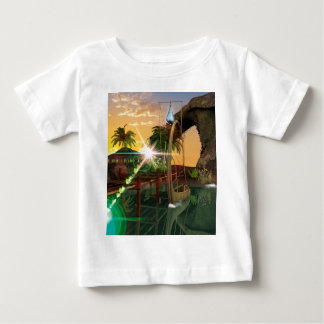 Lamps boat at the jetty in the sunset tshirt