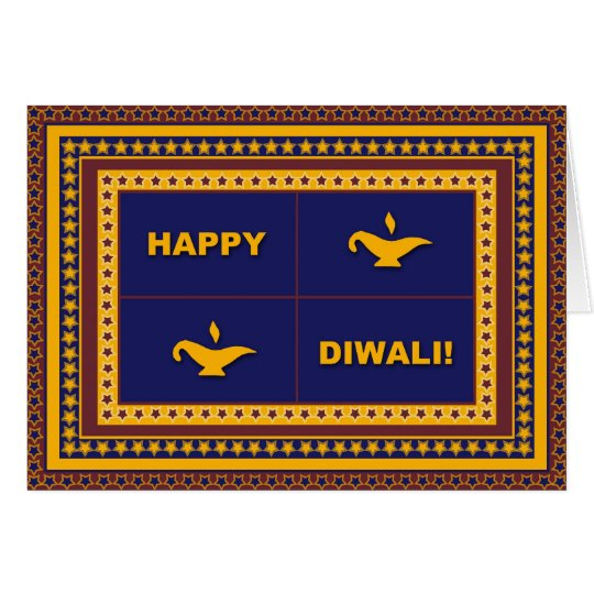Lamps & Stars Diwali Card