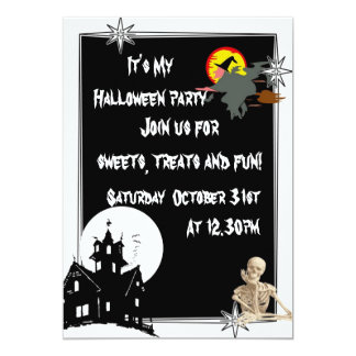 L'amusement badine Halloween éffrayant Carton D'invitation 12,7 Cm X 17,78 Cm