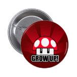 L'amusement cultivent le champignon rouge Powerup Badge