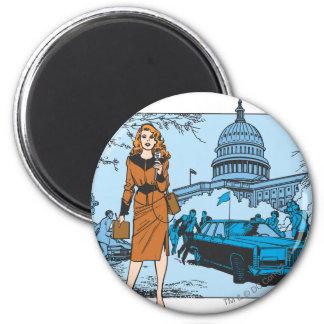 Lana Lang Reporting 2 Inch Round Magnet