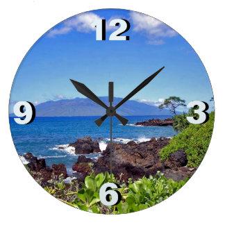 Lanai from Maui Large Clock