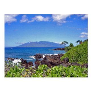 Lanai from Maui Postcard