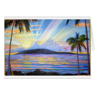 Lanai Sunset Card
