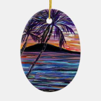 Lanai Sunset Ceramic Ornament