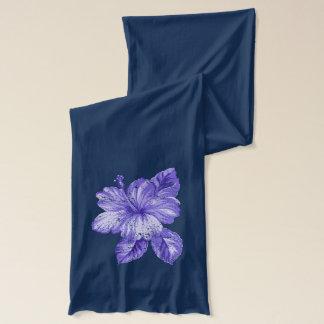 Lanai Vintage Hawaiian Lavender Hibiscus Scarves