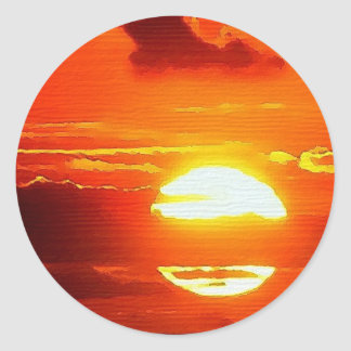 Lancashire Sunset Classic Round Sticker