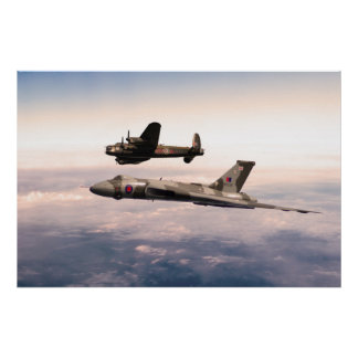Lancaster and Vulcan Poster