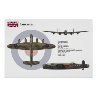 Lancaster BI 83 Squadron Poster