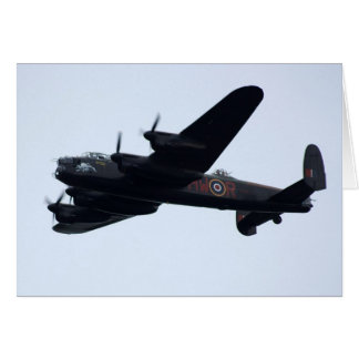 Lancaster Bomber In Flight. Card
