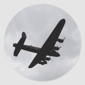 Lancaster Bomber Overhead Classic Round Sticker