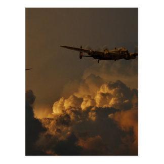 Lancaster bomber STORM Postcard