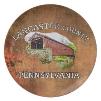 Lancaster County -- souvenir plate