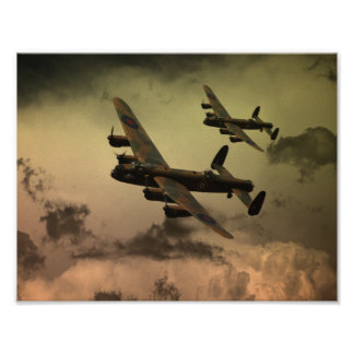 Lancaster Fire In The Sky Poster