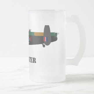 lancaster frosted glass beer mug