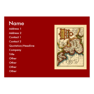 """Lancaster"" Lancashire County Map Pack Of Chubby Business Cards"