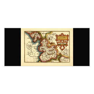 Lancaster Lancashire County Map Rack Card