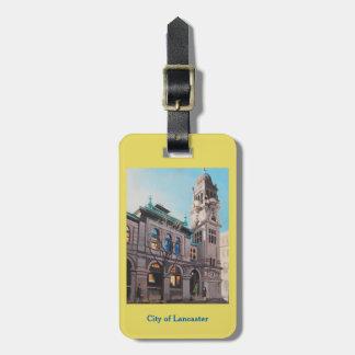 Lancaster Municipal Building luggage tag
