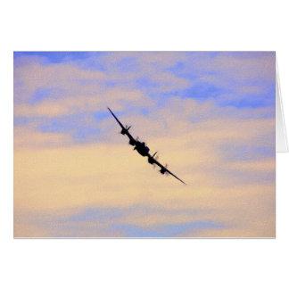 Lancaster World War 2 British Bomber Card