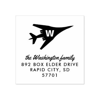 Lancer B-1 Bomber Custom Monogram Address Stamp