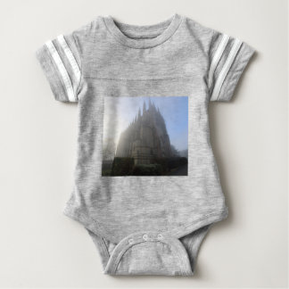 Lancing Chapel in the mist, West Sussex, England, Baby Bodysuit