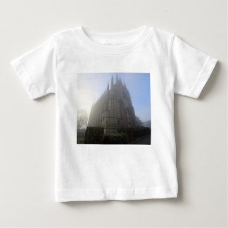 Lancing Chapel in the mist, West Sussex, England, Baby T-Shirt
