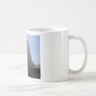 Lancing Chapel in the mist, West Sussex, England, Coffee Mug