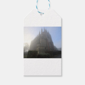 Lancing Chapel in the mist, West Sussex, England, Gift Tags
