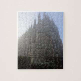 Lancing Chapel in the mist, West Sussex, England, Jigsaw Puzzle