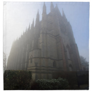 Lancing Chapel in the mist, West Sussex, England, Napkin