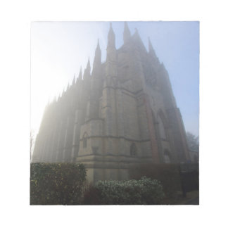 Lancing Chapel in the mist, West Sussex, England, Notepad