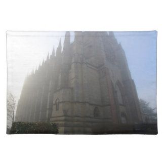 Lancing Chapel in the mist, West Sussex, England, Placemat