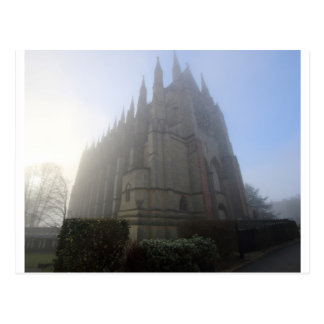 Lancing Chapel in the mist, West Sussex, England, Postcard