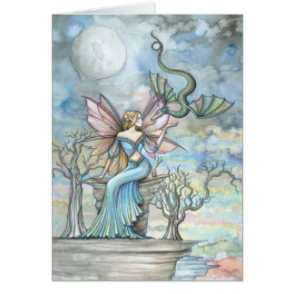 Land Beyond Fairy Dragon Greeting Card
