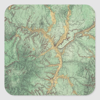 Land Classification Map of New Mexico 2 Square Sticker