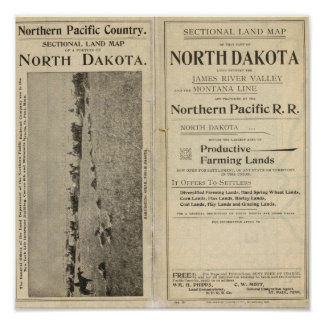 Land Grant of North Dakota Poster