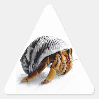 land hermit crab triangle sticker