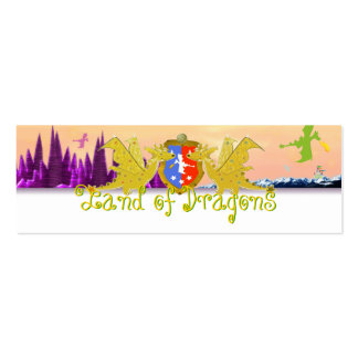 Land of Dragons Name Tag Emma for Kids Pack Of Skinny Business Cards