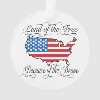 Land of Free Brave Patriotic American Flag Custom