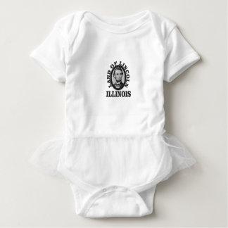 land of lincoln portrait baby bodysuit