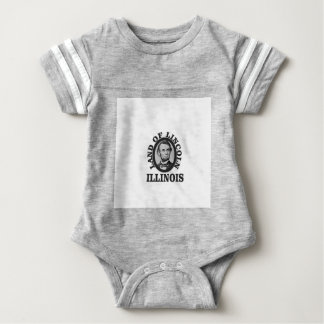 land of lincoln portrait baby bodysuit