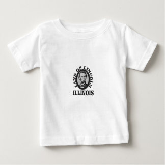 land of lincoln portrait baby T-Shirt