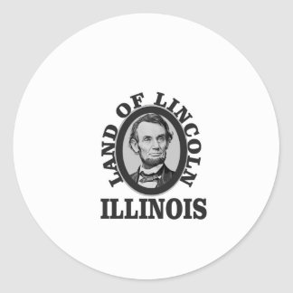 land of lincoln portrait classic round sticker