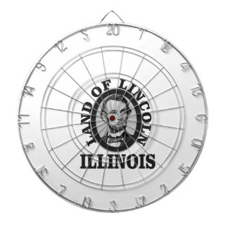 land of lincoln portrait dartboard