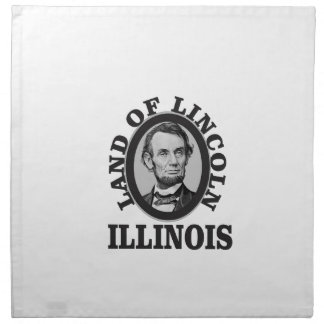 land of lincoln portrait napkin