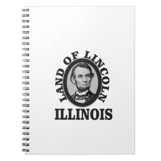 land of lincoln portrait notebook