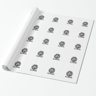 land of lincoln portrait wrapping paper